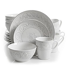 image of gibson overseas juneau 16piece dinnerware set - White Dinnerware Sets