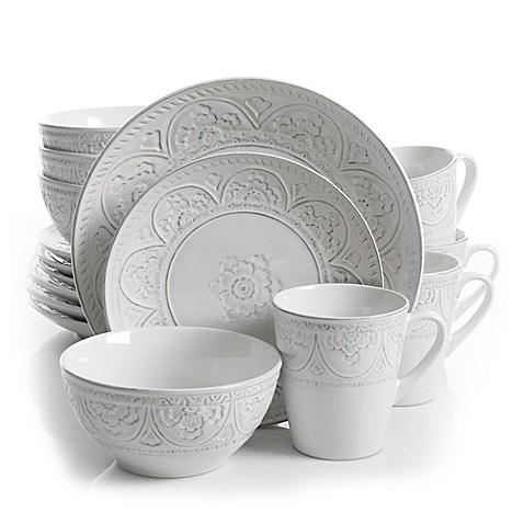 image of Gibson Overseas Juneau 16-Piece Dinnerware Set  sc 1 st  Bed Bath \u0026 Beyond & Dinnerware Sets: Stoneware Square Dinnerware and more - Bed Bath ...