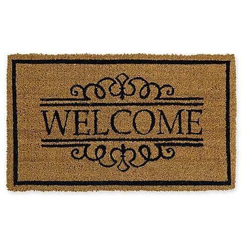 Mohawk Home 174 Welcome Scroll 18 Inch X 30 Inch Door Mat