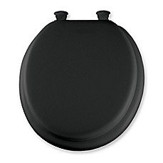 image of Mayfair Round Padded Toilet Seat in Black