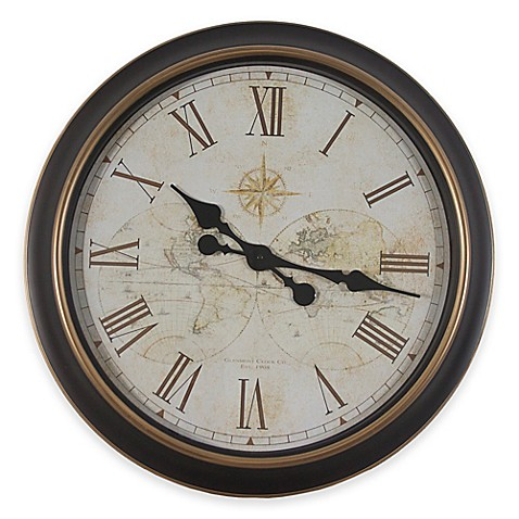 Antique Bronze 24 Inch Wall Clock Bed Bath Beyond