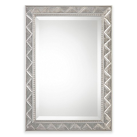 uttermost ioway 24 inch x 30 inch wall mirror in silver. Black Bedroom Furniture Sets. Home Design Ideas