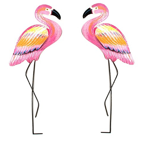 T I Design Metal Pink Flamingo Wall Art Bed Bath Amp Beyond