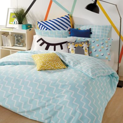image of Scribble Zig-Zag Reversible Comforter Set