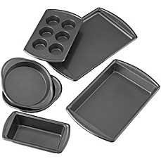 image of Wilton® Advance Select Premium Nonstick™ 6-Piece Bakeware Set in Gunmetal
