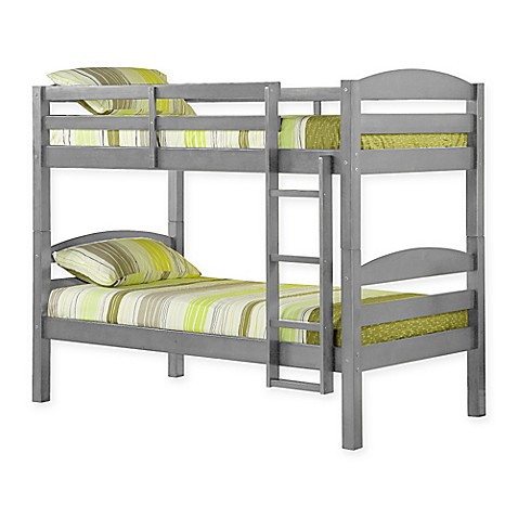 Buy Solid Wood Twin Bunk Bed In Grey From Bed Bath Amp Beyond