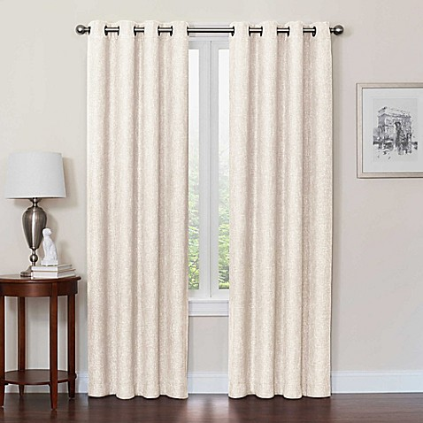 Quinn Grommet Top 100 Blackout Window Curtain Panel Bed