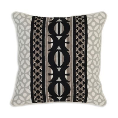 Black And Ivory Throw Pillows : Villa Home Belo 18-Inch Square Throw Pillow in Black/Ivory - Bed Bath & Beyond