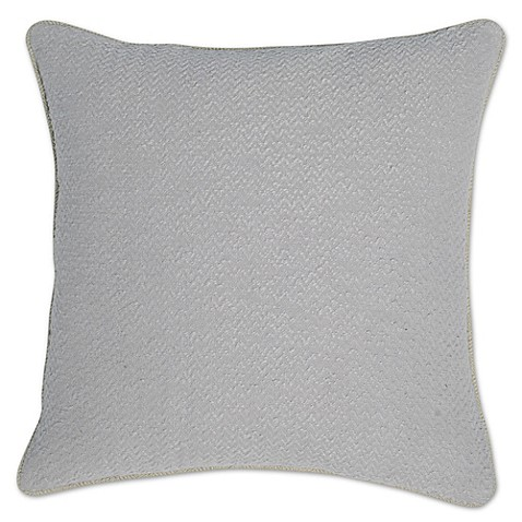 Buy Villa Home Razia 22-Inch Square Throw Pillow in Grey from Bed Bath & Beyond