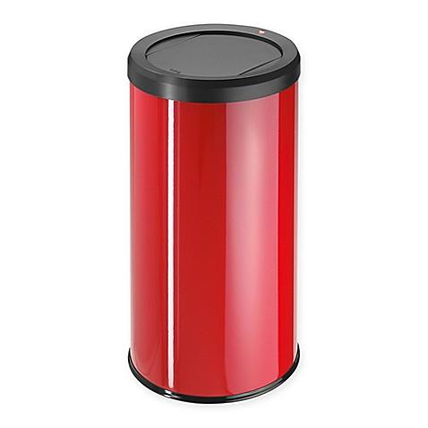 Buy hailo big bin swing 45 liter waste bin in red from bed for Red bathroom bin