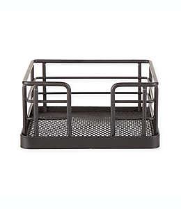 Base cuadrada para portavasos de acero inoxidable SALT™, de 10.79 cm color negro