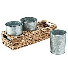 image of Artland Garden Terrace 4-Piece Seagrass Caddy