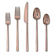 Artisanal Kitchen Supply® Edge Mirror 20 Piece Flatware Set In Copper