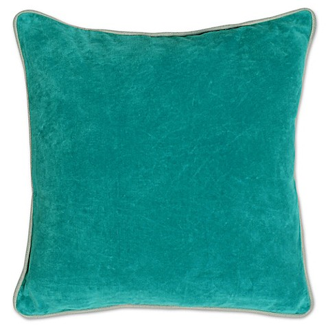 Pacific Blue Throw Pillows : Buy Villa Home Heirloom Velvet Square Throw Pillow in Pacific Blue from Bed Bath & Beyond