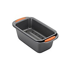 image of Rachael Ray™ Oven Lovin' Nonstick 2-Piece Meatloaf Pan Set in Grey/Orange