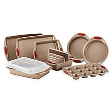 image of Rachael Ray™ Cucina Non-Stick 10-Piece Bakeware Set in Brown/Red