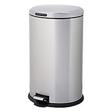 image of Testrite Oval 40-Liter Stainless Steel Trash Bin