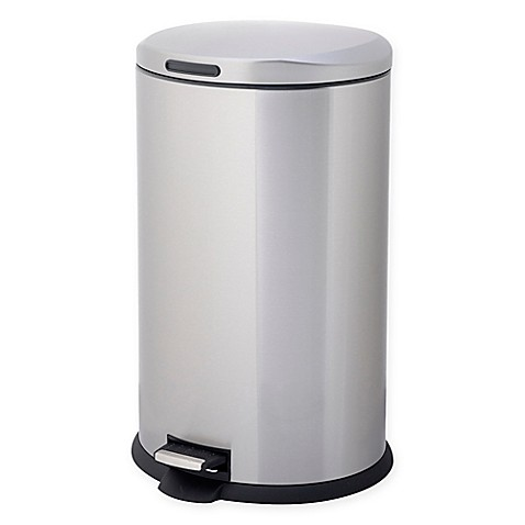 image of testrite oval 40 liter stainless steel trash bin. Interior Design Ideas. Home Design Ideas