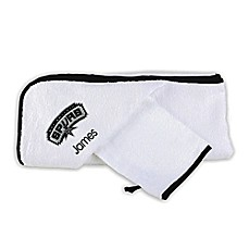 image of Designs by Chad and Jake NBA San Antonio Spurs Personalized  Hooded Towel Set in White