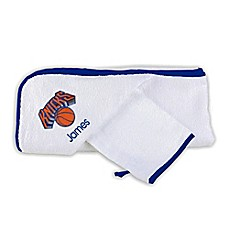 image of Designs by Chad and Jake NBA New York Knicks Personalized Hooded Towel Set in White
