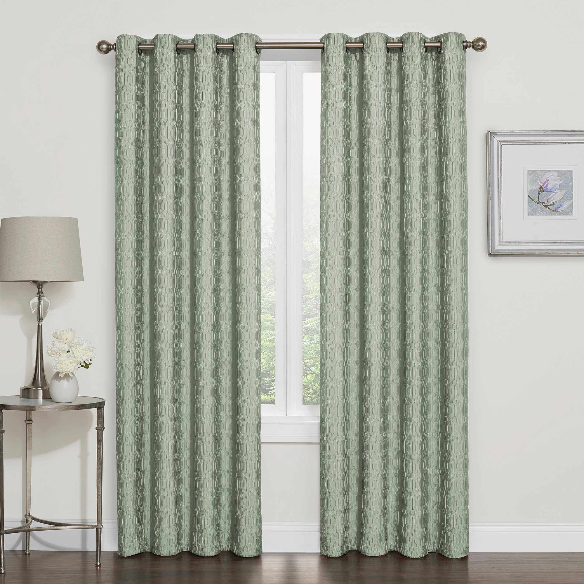 Darcy Blackout Grommet Top Window Curtain Panel