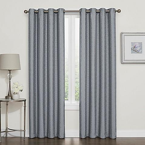 Buy Darcy 84 Inch Room Darkening Grommet Top Window Curtain Panel In Slate From Bed Bath Beyond