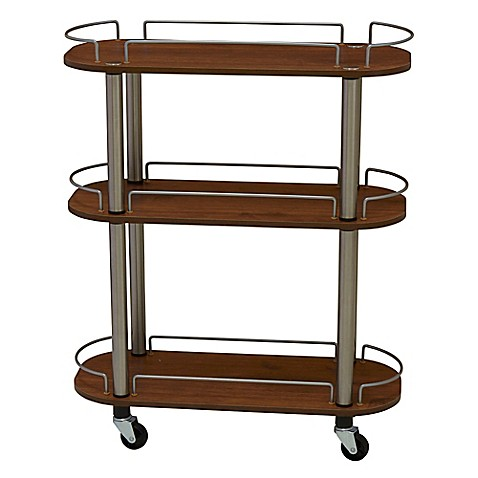 laundry cart on wheels household essentials 174 3 shelf utility cart bed bath amp beyond 10536