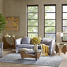 image of Madison Park Abel Glass Top Tables