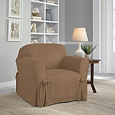 Image Of Perfect FitR Smooth Suede Relaxed Fit Chair Slipcover