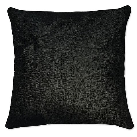Sienna Leather Square Throw Pillow - Bed Bath & Beyond