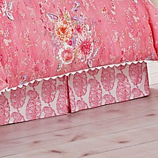 image of Dena™ Home Amara Bed Skirt in Coral