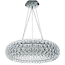 image of Modway Halo Chandelier in Clear