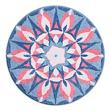 image of Grund Mandala Princess Designer Round Bath and Accent Rug in Pink/Blue