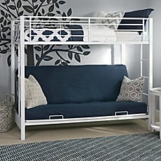 image of Walker Edison Twin Over Futon Metal Bunk Bed