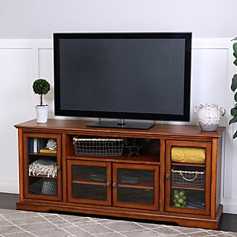 Image Of Walker Edison 70 Inch Highboy Style Wood TV Stand