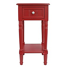 image of Decor Therapy Simplify 1-Drawer Square Accent Table