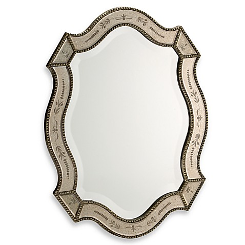 Uttermost oval felicie wall mirror bed bath beyond for Fancy oval mirror