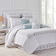 image of Dena™ Home Reversible Luna Quilt in Grey/White