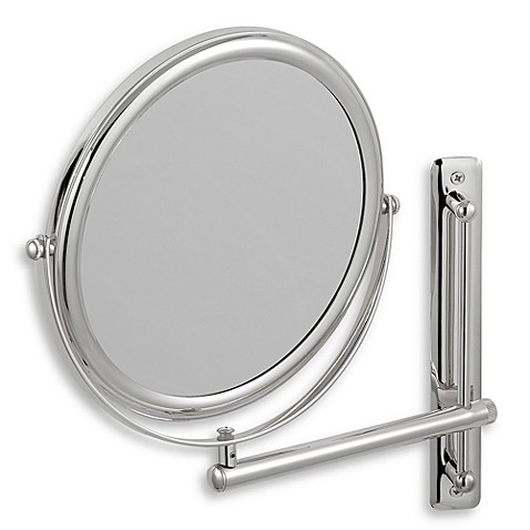bathroom makeup mirrors buy jerdon 3x 1x chrome finished wall mount mirror from 10993