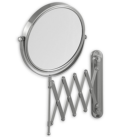 Jerdon 7X 1X Wall Mount 20 Inch Extension Mirror