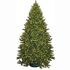 image of 9 foot montana pre lit artificial christmas tree with lights - Christmas Tree With Lights