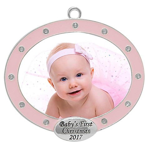 Baby\'s First Christmas Oval Frame Ornament - Bed Bath & Beyond