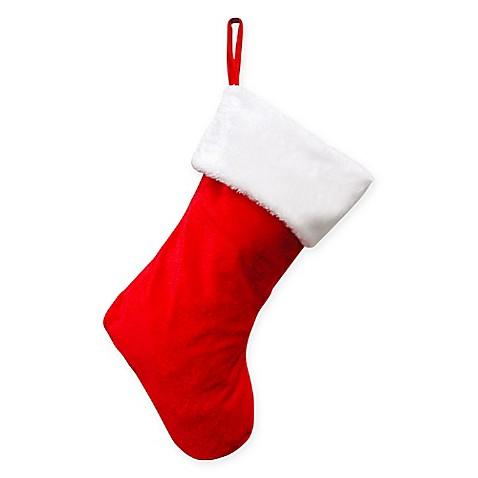 Haute d cor hangright adjustable stocking in red white for Haute decor