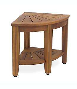 Taburete esquinero de madera de teca Haven™