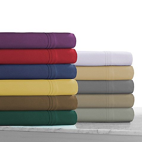tribeca living 110 gsm solid microfiber extra deep pocket sheet set