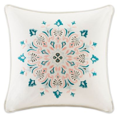Echo Design Throw Pillows : Echo Design Sterling Square Throw Pillow in Beige - Bed Bath & Beyond
