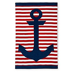 image of Anchor Beach Towel in Navy