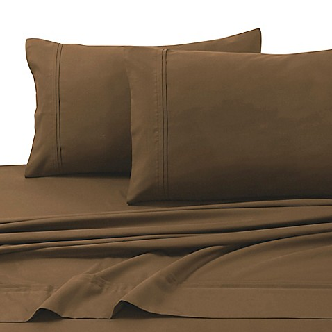 buy tribeca living 110 gsm solid microfiber extra deep pocket queen sheet set in chocolate from. Black Bedroom Furniture Sets. Home Design Ideas