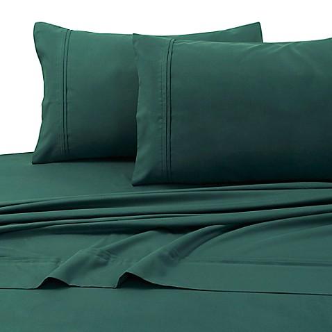 buy tribeca living 110 gsm solid microfiber extra deep pocket queen sheet set in green from bed. Black Bedroom Furniture Sets. Home Design Ideas