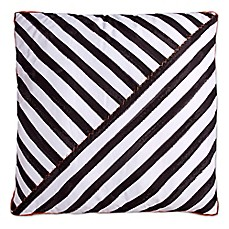 image of Scribble Striped Square Throw Pillow